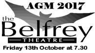The Belfrey Theatre's Annual General Meeting will take place on Friday 13th October at 7.00 pm. Updated:Saturday, September 9, 2017