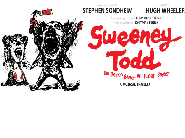 Sweeney Todd: The Demon Barber of Fleet Street is a musical thriller set in 19th century England. The show tells the story of Sweeney Todd's return to London after 15 years of exile. He comes back in order to take revenge on the corrupt judge who banished him, by conspiring with a local baker, Mrs. Lovett, who is in desperate need of fresh meat for her pies! Sweeney Todd won the Tony Award for Best Musical and Olivier Award for Best New Musical. BOX OFFICE:- boxoffice@belfreytheatre.com or 01952 222277